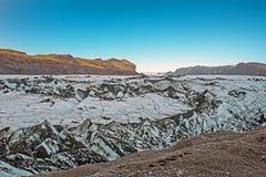Solheimajokull Glacier in Iceland Stock Photo