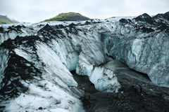 Solheimajokull Glacier in Iceland Royalty Free Stock Photography