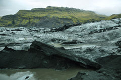 Solheimajokull Glacier in Iceland Royalty Free Stock Photos