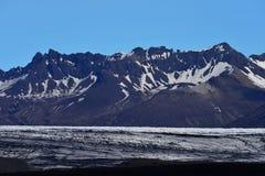 Solheimajokull glacier in Iceland Stock Image