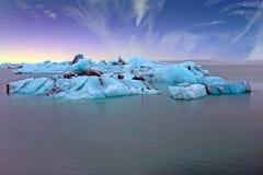 Solheimajokull Glacier in Iceland at sunrise Royalty Free Stock Image