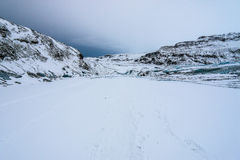 Solheimajokull glacier, Iceland Royalty Free Stock Photography