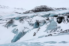 Solheimajokull glacier, Iceland Stock Photography