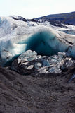 Solheimajokull glacier near Skaftafell in Iceland Royalty Free Stock Photography