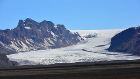 Solheimajokull glaciär i Island Fotografering för Bildbyråer