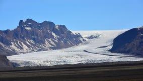 Solheimajokull-Gletscher in Island Stockbild