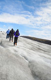 Solheimajokull lodowiec zdjęcie royalty free