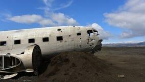 Solheimasandur美国海军DC-3飞机击毁在冰岛 免版税库存图片