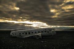 Solheimasandur-Flugzeugabsturz stockbilder