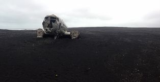 Solheimasandur Plane Wreck Stock Image