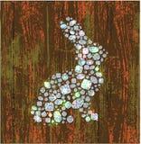 Solhouette de lapin Image libre de droits