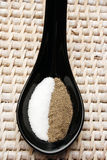 soli pieprzowa łyżka zdjęcia royalty free