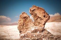 Soli rzeźby są pięknym geological formacją księżyc dolina Obrazy Stock