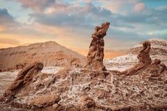 Soli rzeźby są pięknym geological formacją księżyc dolina Fotografia Stock