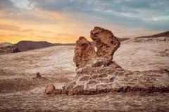 Soli rzeźby są pięknym geological formacją księżyc dolina Zdjęcia Royalty Free