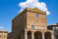 Soliano palace. Orvieto. Umbria. Italy. Royalty Free Stock Photo