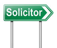 Solicitor concept. Illustration depicting a sign with a Solicitor concept Stock Photography