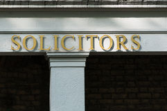 Solicitors sign on a office building Stock Images