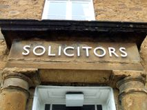 Solicitors sign. solicitors offices sign. Stock Photos