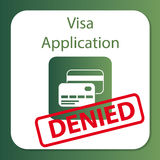 Solicitud de visado negada Fotografía de archivo