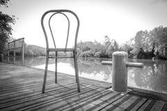 Solidão no rio Foto de Stock