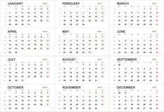 Solid 2013 calendar template Stock Photo