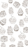 Solid background with a picture cakes Stock Images