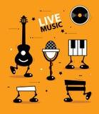 Solid bakgrund för musiksymboler Royaltyfri Illustrationer
