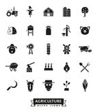 Agriculture and Farming Glyph Icon Set Stock Images