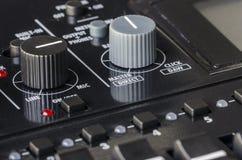 Solid blandare för knappkontroll Arkivbild
