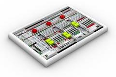 Solid blandare för ljudsignalinspelning Arkivbilder