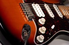 Solid Body Electric Guitar Stock Image