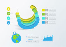Solid business graph. Vector infographics Stock Image