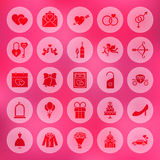 Solid Circle Love Icons Royalty Free Stock Photo