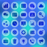 Solid Circle Website Development Icons Royalty Free Stock Image