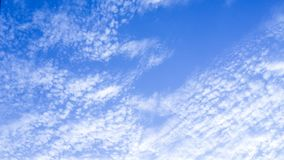 Solid Clounds Forming on Blue Sky Right Side of the Frame. Clear Blue Sky and Clouds. Thick Clouds and Bright Blue Sky Stock Images