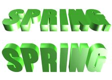 3D word - spring Stock Photography