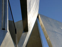 Solid form. Geometric sculpture detail royalty free stock images