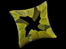 Solid Fractal. Solid shaped fractal vector illustration