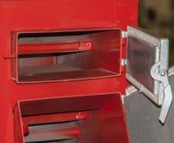 Solid fuel boiler. The loading door is solid fuel boiler stock images