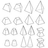 Solid  geometry vector Royalty Free Stock Photos