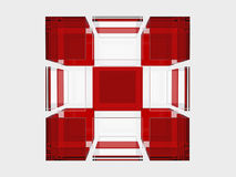 Solid glass cube Royalty Free Stock Photo