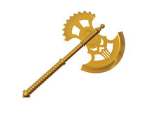 Solid Gold Axe Stock Photography