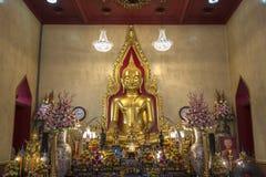 Solid Gold Buddha - Bangkok - Thailand Stock Image