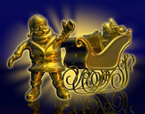 Free Solid Gold Santa - Radiant Stock Photography - 323422