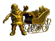 Free Solid Gold Santa - With Clipping Path Stock Photo - 323420