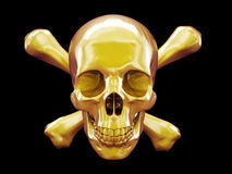 Solid gold skull & crossbones Stock Photo
