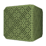 Solid green Cube Royalty Free Stock Photos