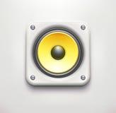 Solid hög högtalare Arkivbild
