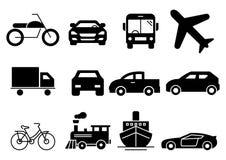 Solid icons transportation stock illustration